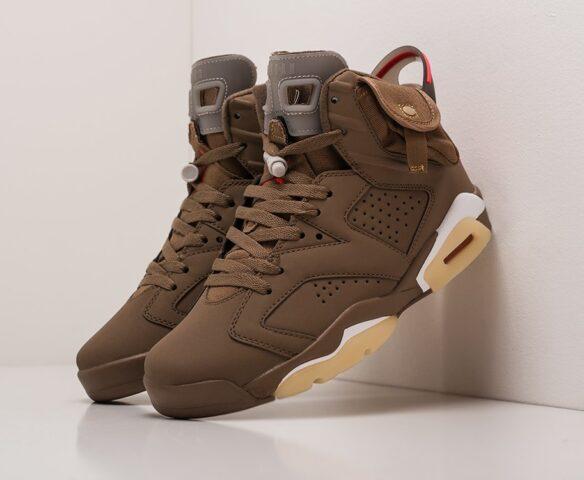 Nike x Travis Scott Air Jordan 6 коричневые